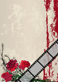Roses and film strip. Vector film strip background with roses (EPS 10 Royalty Free Stock Photos