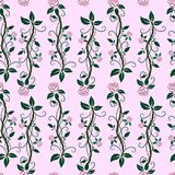 roses Fleurs Fond de fleur Configuration sans joint répété Illustration de vecteur illustration libre de droits