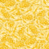 Roses, floral background, seamless pattern. Royalty Free Stock Photos