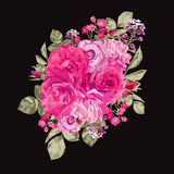 Roses floral bouquet Royalty Free Stock Photos