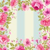 Roses, floral wallpaper Stock Image