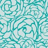 Roses florales sans couture de monochrome de fond. Photographie stock