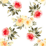 Roses flower watercolor seamless pattern. Abstract roses flower watercolor seamless pattern Royalty Free Stock Photography