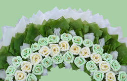 Roses flower wreath for use in Thai funeral Royalty Free Stock Photo