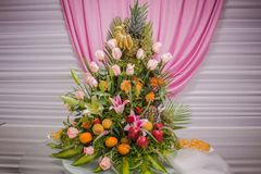 Roses and flowers for love. Some roses and flowers differents color to the party Stock Photography
