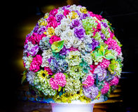 Roses and flowers of many colors. Decorations carefully Royalty Free Stock Photo