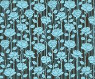 roses Fond bleu sans couture avec des rayures illustration libre de droits