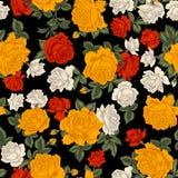 roses Fond sans joint de vecteur Illustration de cru illustration libre de droits