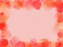 Roses frame. A colorful background with red roses as frame royalty free illustration