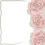 Roses Frame. Frame Valentine Day mothers day Stock Photography