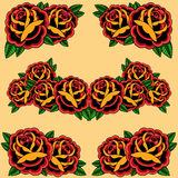 Roses Frame Royalty Free Stock Photos