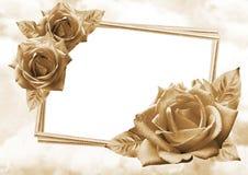 Roses frame Stock Photo
