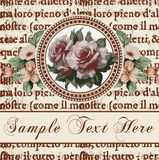 Roses. Frame. Flowers. Greeting card. Stock Photography