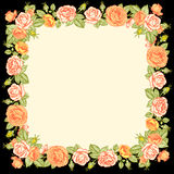Roses frame. Royalty Free Stock Image