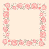 Roses Frame. Stencil. Stock Photos