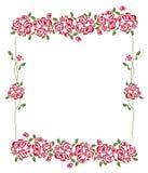 Roses frame Stock Photos