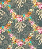 Roses Garland Lace Seamless Pattern de Roccoco illustration stock