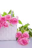 Roses in a gift box Stock Photo