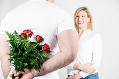 Roses for the Girlfriend Stock Images
