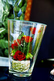 Roses in a glass Stock Image