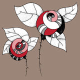 Roses graphiques illustration de vecteur