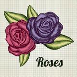 Roses grunge Royalty Free Stock Images
