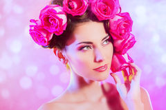 Roses headwear Royalty Free Stock Photo