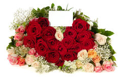 Roses and heart Stock Photos