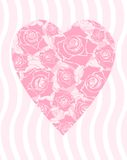 Roses heart. Heart of pink roses, for Valentine's day Stock Images