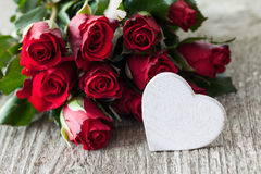 Roses and heart Royalty Free Stock Photo