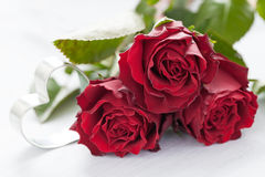 Roses and heart Royalty Free Stock Image
