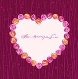 Roses heart frame Stock Image