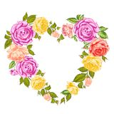 Roses heart frame. Stock Photography