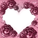 Roses heart frame Stock Photo