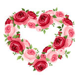 Roses heart frame. vector illustration