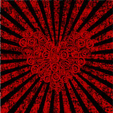 Roses heart over grunge background Royalty Free Stock Images