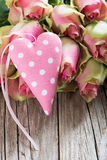 Roses with heart Stock Photos