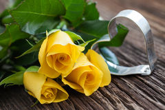 Roses and heart shape Royalty Free Stock Image
