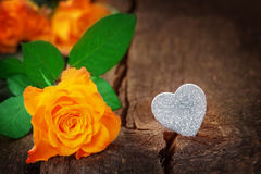 Roses and heart, Valentine's Day, Mother's Day Stock Images