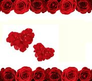 Roses and hearts Royalty Free Stock Photo