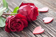 Roses and hearts Royalty Free Stock Photos