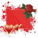 Roses and hearts background Royalty Free Stock Photo