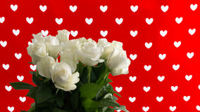 Roses with hearts background - Love concept Royalty Free Stock Photo