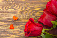 Roses and hearts Royalty Free Stock Image