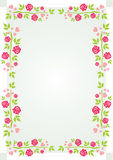 Roses and hearts Frame Royalty Free Stock Images