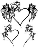 Roses and hearts vector Stock Photos