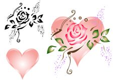Roses & Hearts [VECTOR] Royalty Free Stock Image