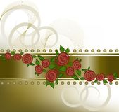 Roses on the horizontal strip Stock Image
