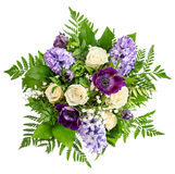 Roses and Hyacinth Flowers. Spring Bouquet Stock Image