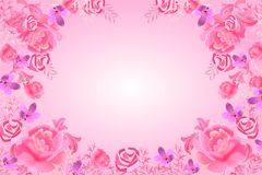Roses of the international woman`s day background. Vector Stock Images
